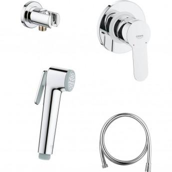 Готовый комплект для гигиенического душа GROHE BAUEDGE: встраиваемый смеситель, гигиенический душ со шлангом и держателем, хром