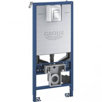 Комплект GROHE RAPID SLX 3 в 1 для подвесного унитаза: инсталляция, крепление к стене и панель смыва Skate Cosmopolitan, размер S, хром