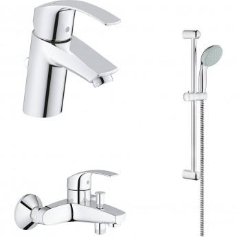 Набор смесителей для ванны GROHE Eurosmart с душевым гарнитуром, хром