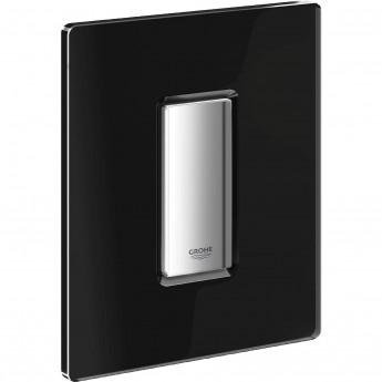 Панель смыва для писсуара GROHE Skate Cosmopolitan Glass (1 режим смыва), хром/черный бархат