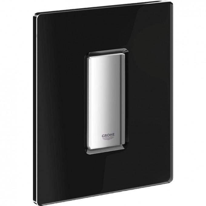 Панель смыва для писсуара GROHE Skate Cosmopolitan Glass (1 режим смыва), хром/черный бархат 38846KS0