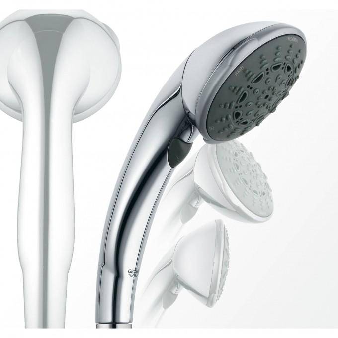 Ручной душ GROHE MOVARIO (5 режимов) c поворотной головкой, хром () 28393000