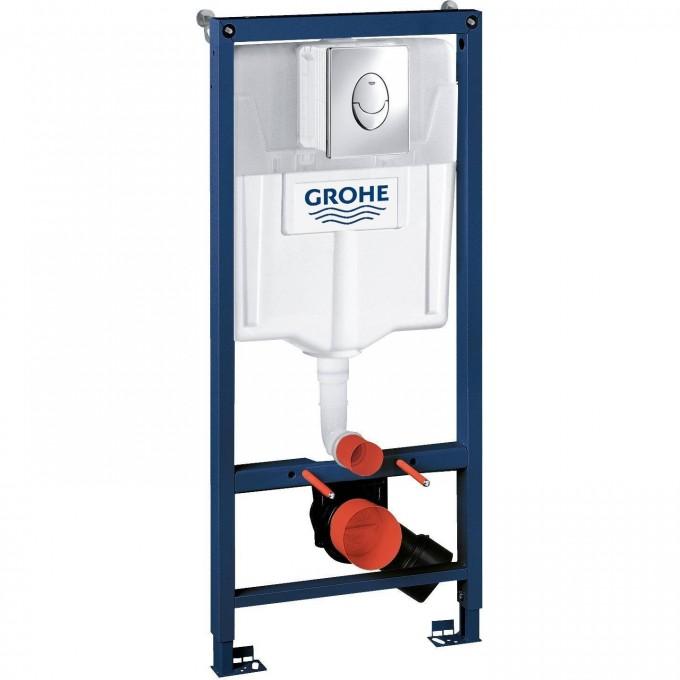 Система инсталляции для унитаза GROHE RAPID SL с панелью смыва Skate Air (3 режима), комплект 3-в-1 (1,13 м) 38721001