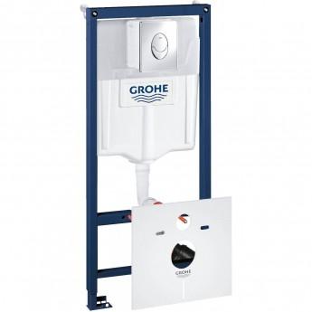 Система инсталляции для унитаза GROHE RAPID SL с панелью смыва Skate Air (3 режима), комплект 4-в-1 (1,13 м)