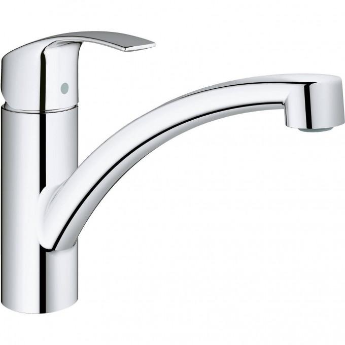 Смеситель для кухни GROHE EUROSMART NEW с низким изливом и ограничением расхода воды, хром 3328120E