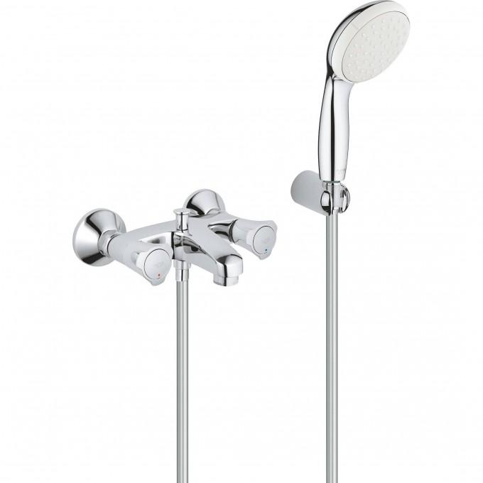 Смеситель для ванны GROHE COSTA L с душевым гарнитуром, хром 2546010A