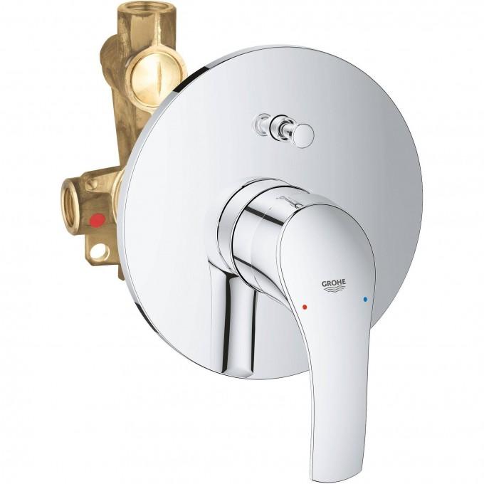 Смеситель для ванны GROHE EUROSMART NEW (внешняя и встраиваемая части), хром 33305002