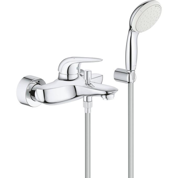 Смеситель для ванны с душевым набором GROHE EUROSTYLE 2372930A