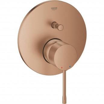 Смеситель однорычажный для ванны GROHE ESSENCE, круглая розетка, теплый закат матовый (24058DL1)