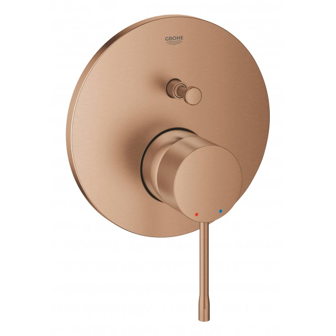 Смеситель однорычажный для ванны GROHE ESSENCE, круглая розетка, теплый закат матовый () 24058DL1