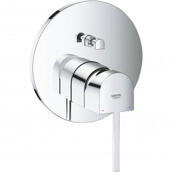 Смеситель однорычажный для ванны GROHE PLUS, круглая розетка (24060003)