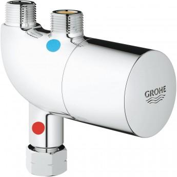 Термостат GROHE GROHTHERM MICRO для установки под раковиной или мойкой, термическая защита от ожога, хром
