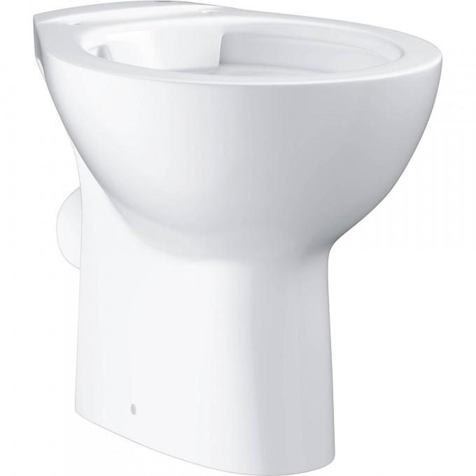Унитаз напольный безободковый GROHE BAU CERAMIC, горизонтальный выпуск (без сиденья), альпин-белый 39430000
