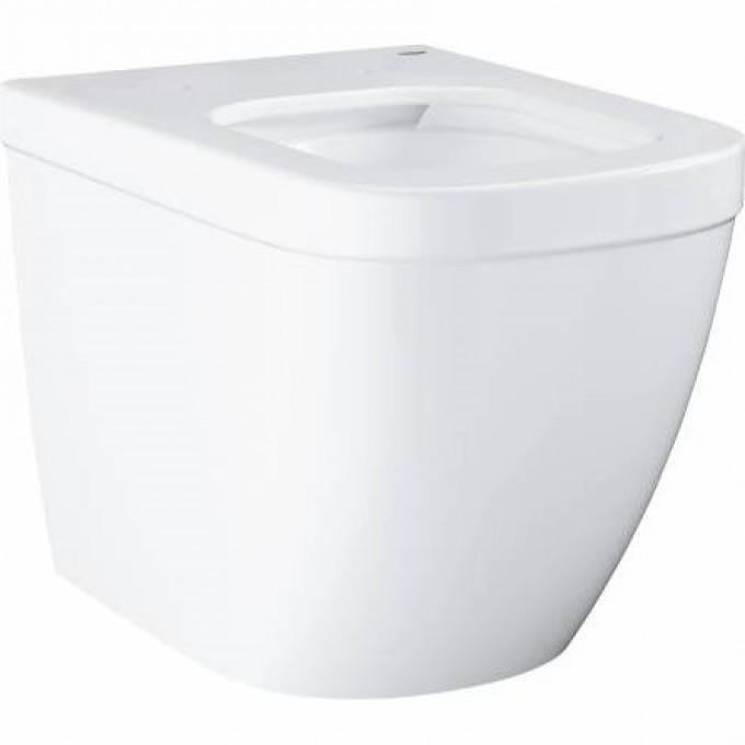 Унитаз напольный приставной безободковый GROHE EURO CERAMIC (без сиденья), альпин-белый 39339000